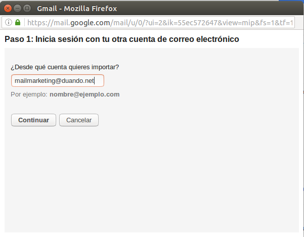 Configuración Gmail 5