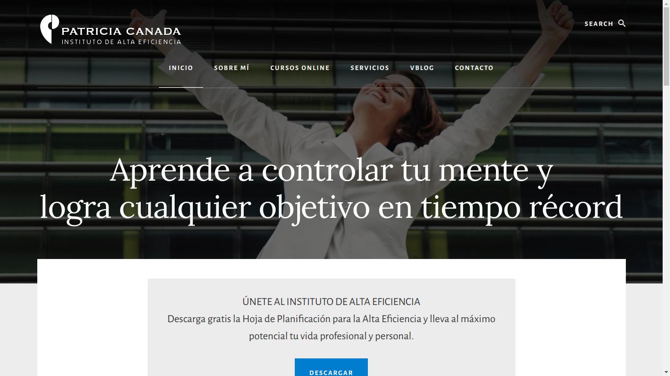 Pantallazo de la web de patriciacanada.com