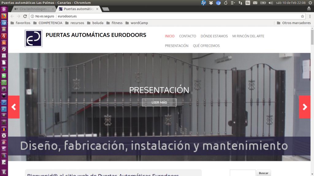 Pantallazo de la web de Eurodors