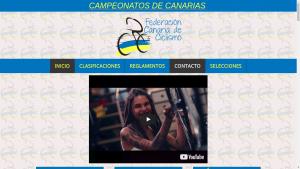 Pantallazo de la web de la federación canaria de ciclismo