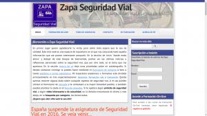 Pantallazo de Zapa Seguridad Vial