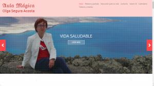 Pantallazo de la web de Aula Mágica de Olga