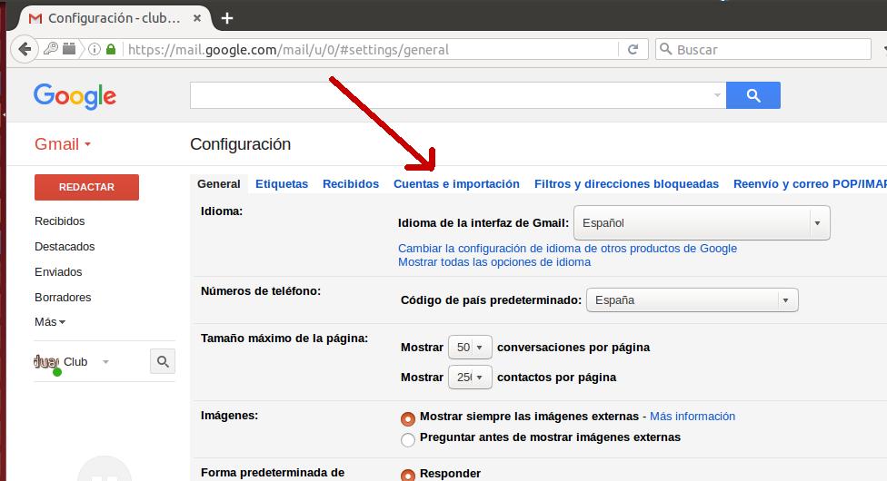 Configuración Gmail 2
