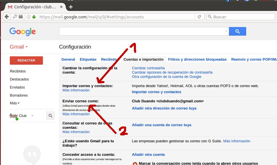 Configuración Gmail 3
