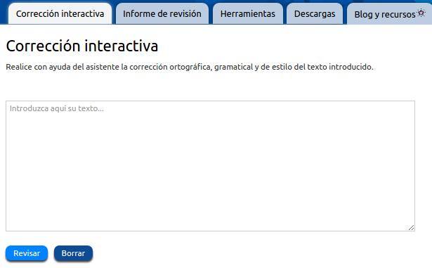 corrección interactiva