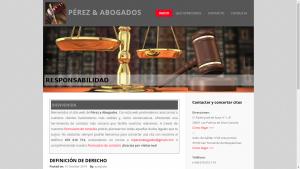 Pantallazo de Pérez y Abogados