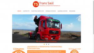 Pantallazo de la web de transsaul