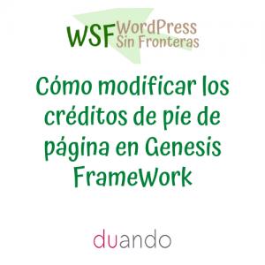 Cómo modificar los créditos de pie de página en Genesis FrameWork