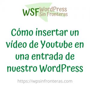 Cómo insertar un vídeo de Youtube en una entrada de nuestro WordPress