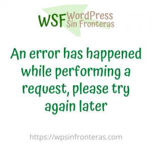 An error has happened while performing a request, please try again later