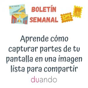 Aprende cómo capturar partes de tu pantalla en una imagen lista para compartir