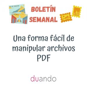 Una forma fácil de manipular archivos PDF