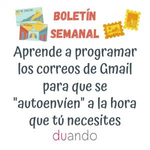 """Aprende a programar los correos de Gmail para que se """"autoenvíen"""" a la hora que tú necesites"""