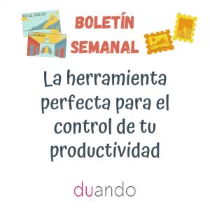 La herramienta perfecta para el control de tu productividad