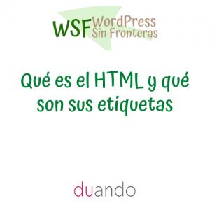 Qué es el HTML y qué son sus etiquetas