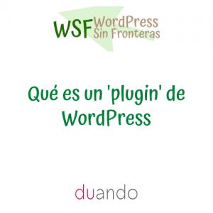 Qué es un 'plugin' de WordPress
