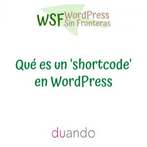 Qué es un 'shortcode' en WordPress