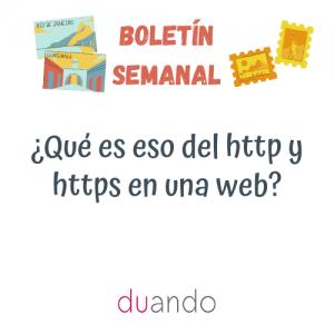 ¿Qué es eso del http y https en una web?