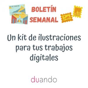 Un kit de ilustraciones para tus trabajos digitales
