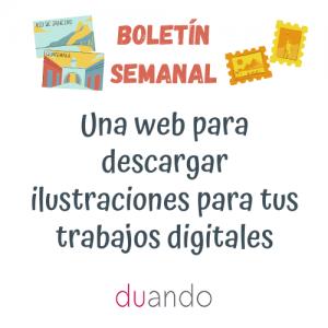 Una web para descargar ilustraciones para tus trabajos digitales