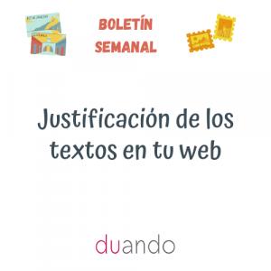Justificación de los textos en tu web