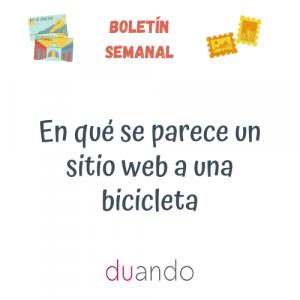 En qué se parece un sitio web a una bicicleta