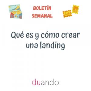 Qué es y cómo crear una landing