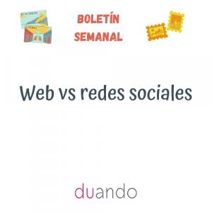 Web vs redes sociales