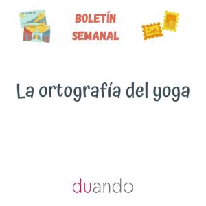 La ortografía del yoga