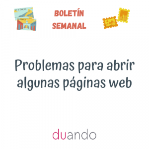 Problemas para abrir algunas páginas web
