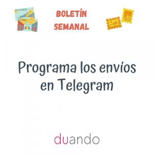 Programa los envíos en Telegram