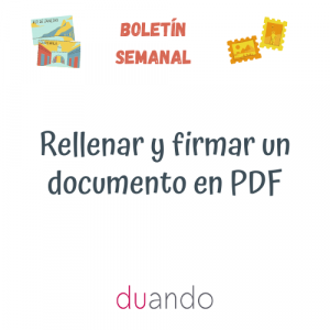Rellenar y firmar un documento en PDF