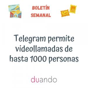 Telegram permite videollamadas de hasta 1000 personas